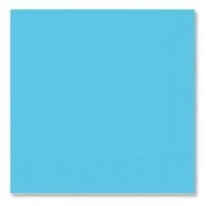 Салфетки голубые Карибы, 33 см, 16 штук