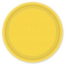 Тарелка Солнечно-Желтая, 17 см, 8 штук