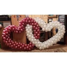 Сердца переплетенные из шаров